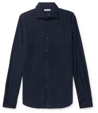Boglioli Slim-Fit Garment-Dyed Cotton-Corduroy Shirt