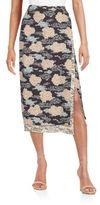 Dries Van Noten Printed Midi Wrap Skirt