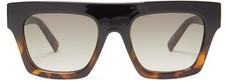 Le Specs Subdimension Flat-top Acetate Sunglasses - Womens - Brown