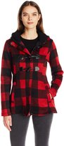 Madden-Girl Women's Buffalo Plaid Toggle Coat