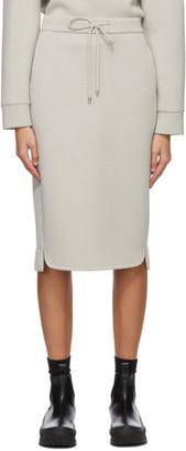 MAX MARA LEISURE Grey Ozioso Mid-Length Skirt