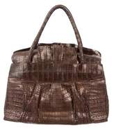 Nancy Gonzalez Crocodile Medium Ruffled Tote