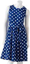 Ronni nicole polka-dot dress