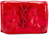 Saint Laurent Credit Card Wallet in Rouge Eros | FWRD