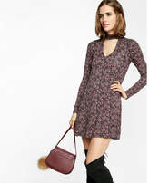 Express vine print cut-out trapeze choker dress