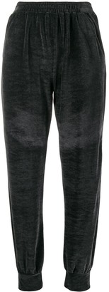Styland Straight Leg Velour Track Trousers