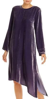 Eileen Fisher Velvet Asymmetric-Hem Dress