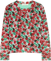 Marc Jacobs Floral-print knitted sweater