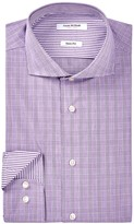 Isaac Mizrahi Plaid Slim Fit Dress Shirt