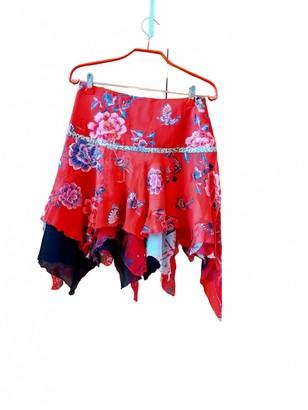 Roberto Cavalli Red Silk Skirt for Women