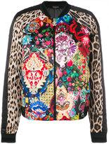 Roberto Cavalli floral Leo bomber jacket