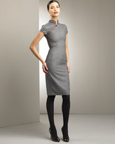 Asymmetric-Zip Dress