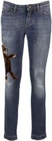 Dolce & Gabbana Cat Embellished Skinny Jeans