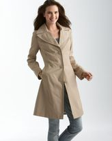 DKNY Notched-Collar Streamlined Trench Coat
