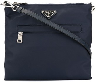 Prada Pre-Owned Triangular Logo Crossbody Bag
