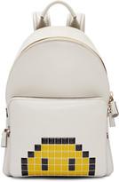 Anya Hindmarch Ivory Mini Pixel Smiley Backpack