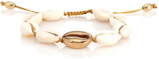 Tohum Design Concha Puka 22kt gold-plated bracelet