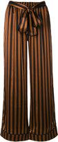Gold Hawk striped wide leg trousers - women - Silk/Polyester - M