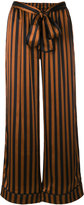 Gold Hawk striped wide leg trousers