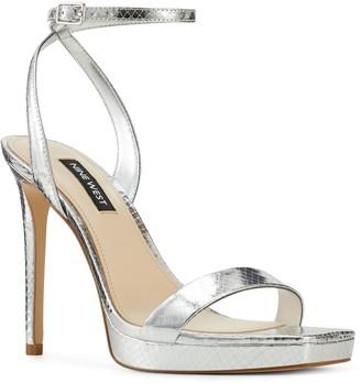 Nine West Square Toe Platform Dress Sandals - Zadie
