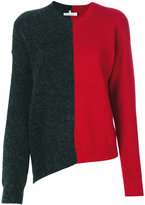 MM6 MAISON MARGIELA bi-colour asymmetric jumper - women - Acrylic/Polyamide/Spandex/Elastane/Wool - S