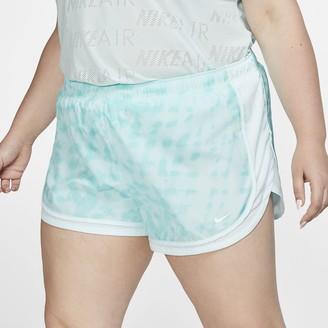 Nike Women's Printed Running Shorts (Plus Size Tempo