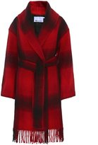 Alexander Wang Women's Long Fringed Wool Coat