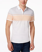Alfani Men's Monroe Striped-Chest Polo, Only at Macy's