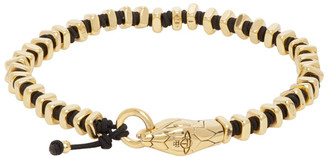Vivienne Westwood Black and Gold Man. Avalon Beaded Bracelet