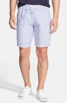 Vilebrequin Men's 'Berrix' Stripe Linen Cargo Shorts