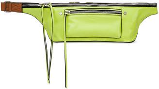 Rag & Bone Small Elliot Neon Crinkled Patent-leather Belt Bag