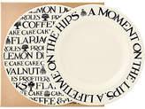 Emma Bridgewater Black Toast Plate, Set of 2, Black/White, Dia.16.5cm