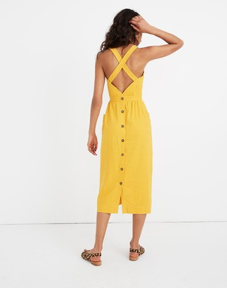 Madewell Garment-Dyed Apron Midi Dress