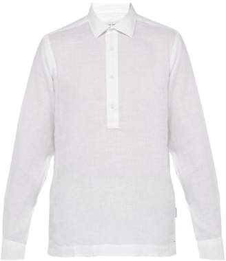 Orlebar Brown Ridley Linen Shirt - Mens - White
