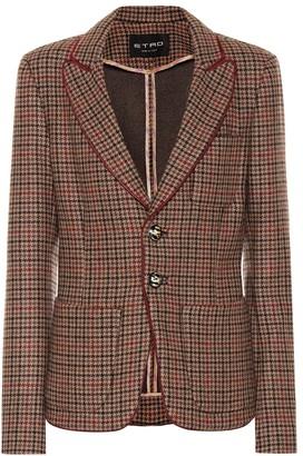 Etro Wool-blend checked blazer