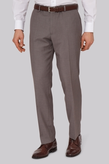 Moss Esq. Regular Fit Neutral Pants