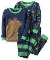 Carter's 4-piece Bear Pajama Set in Blue