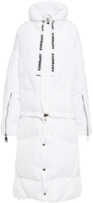 KHRISJOY Quilted Shell Hooded Coat
