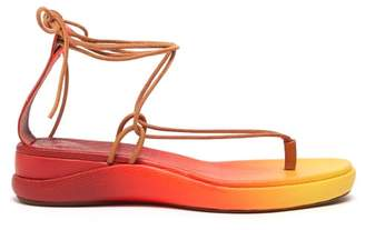 Chloé Degrade Leather Sandals - Womens - Red Multi
