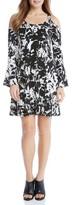 Karen Kane Women's Cold Shoulder Bell Sleeve Dress