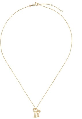 ALIITA 9kt yellow gold Familia necklace