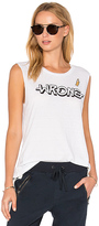 Pam & Gela Wrong Slash Neck Tank in White. - size M (also in S,XS)