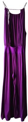 Eres Purple Cotton Jumpsuits