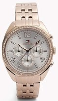 Tommy Hilfiger 1781572 Rose Gold-Tone Ladies Watch - Silver Dial