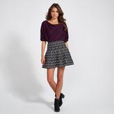 Apricot Monochrome Check Pattern Mini Skirt