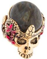 Roberto Cavalli Labradorite Skull Ring