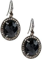 Bavna Champagne Diamond & Spinel Oval Drop Earrings
