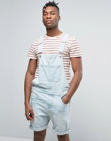 Asos Short Overall in Light Wash