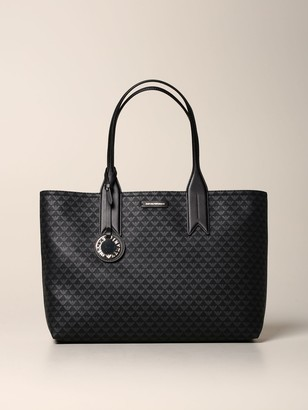 Emporio Armani Tote Bags Shopping Bag In Synthetic Leather With All Over Logo
