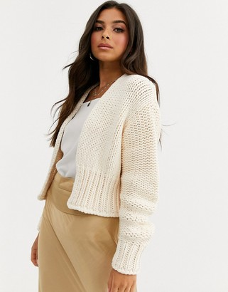Free People Glow For It chunky cardigan-White